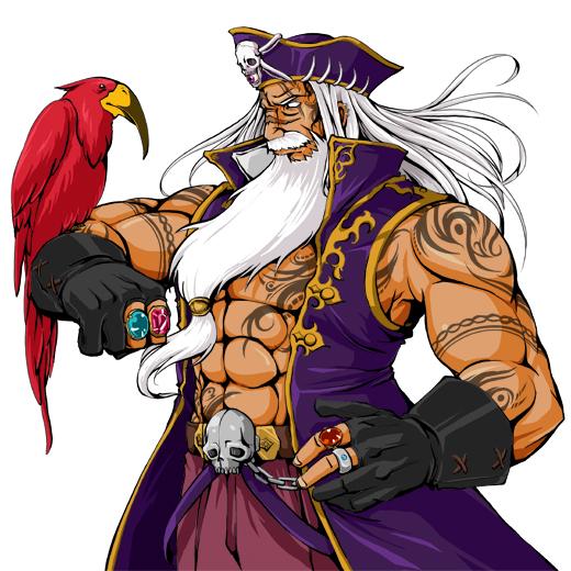 株式会社gumi様 ソーシャルゲーム『海賊道』 のキャラクターイラスト