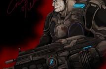 ギアーズ・オブ・ウォー(Gears of War)「マーカス・フェニックス」イラスト