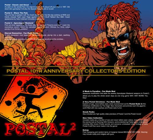 ポスタル2「10th Anniversary Collectors Edition パッケージイメージ 」イラスト