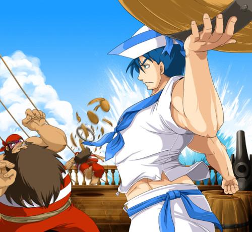 魔界島 七つの島大冒険「船上戦」ゲームイラスト