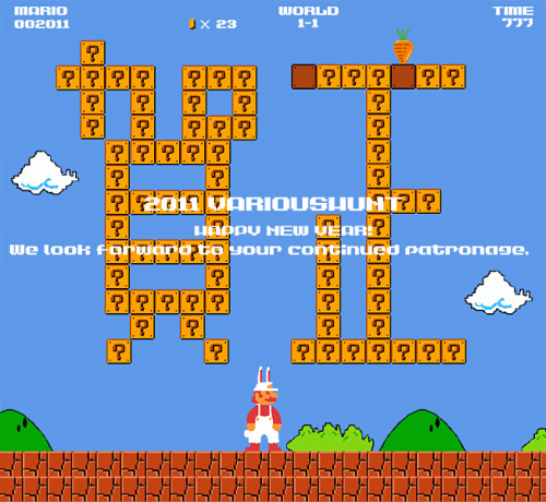 スーパーマリオブラザーズ「2011賀正」ゲームイラスト