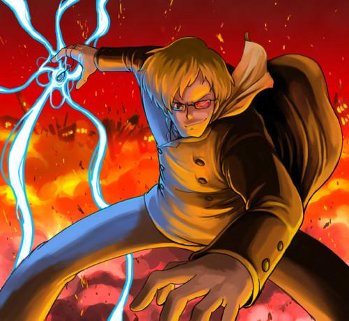 天空の城ラピュタ「飛行石の力を手に入れたムスカ」アニメ・漫画イラスト