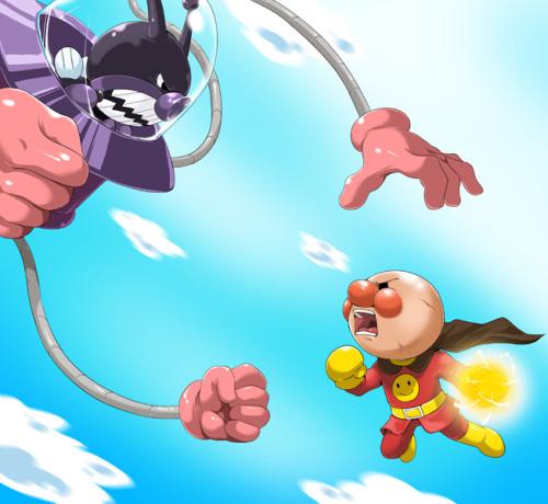 アンパンマン「宿命のライバル」アニメ・漫画イラスト